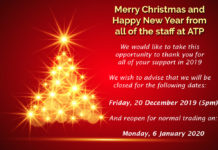 ATP Christmas Closure Notice